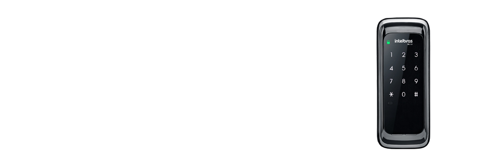 Fechadura Digital Touch Screen FR101 Preto Intelbras